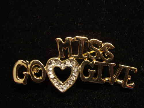 Miss Go Give Pin